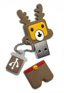 4GB Patriot Holiday Reindeer USB Flash Drive