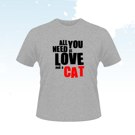 TRICOU All You Need Is Love (Cat) - M - SOLS