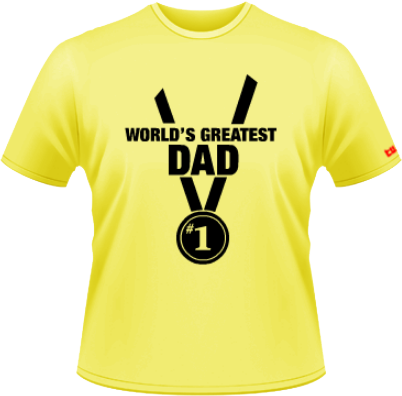 World greatest dad - galben -  Stedman - XXL