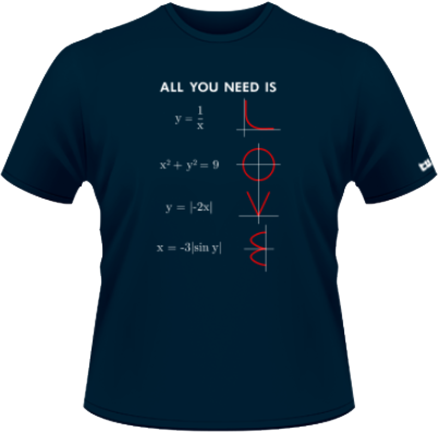 All You Need Is Love, Mathematically - Albastru - SolS  - L