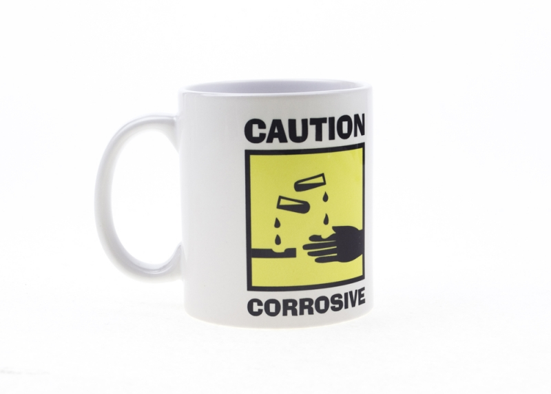 "Cana ""Caution Corrosive"""