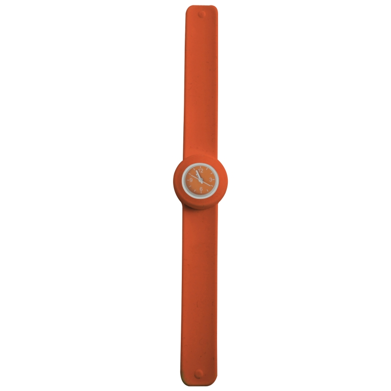 Ceas mini slap-it-on orange