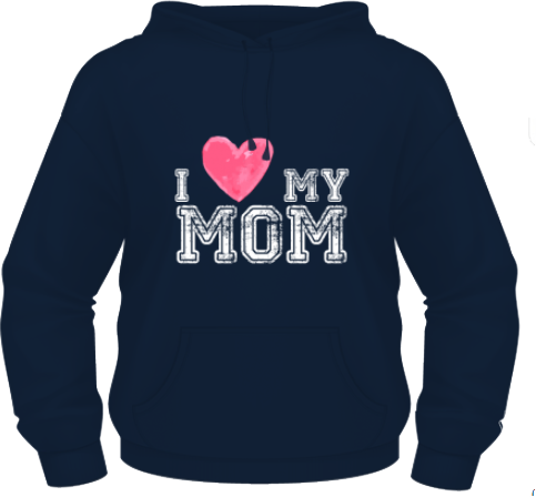 I Love My Mom - Albastru - Keya - XXL