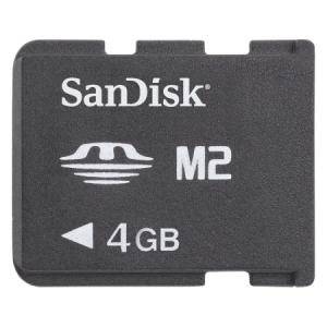 Memory Stick Micro (M2) 4GB Sandisk cu Adaptor MS Pro Duo