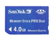 Memory Stick Pro Duo 4GB Sandisk'