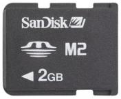 Memory Stick Micro (M2) 2GB Sandisk cu Adaptor MS Pro Duo'