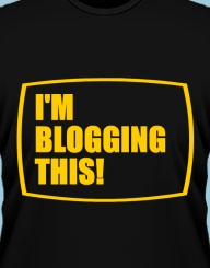 I'm blogging this'