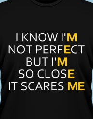 I know I'm not perfect...'