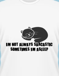 I'm not always sarcastic, sometimes I'm asleep
