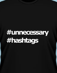 Unnecessary hashtags
