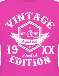 Vintage Limited Edition 19XX